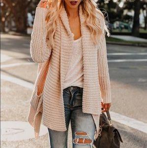 Super cozy pocketed shawl cardigan